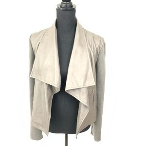Loft Gray Vegan Leather Jacket - blazer 351545 M